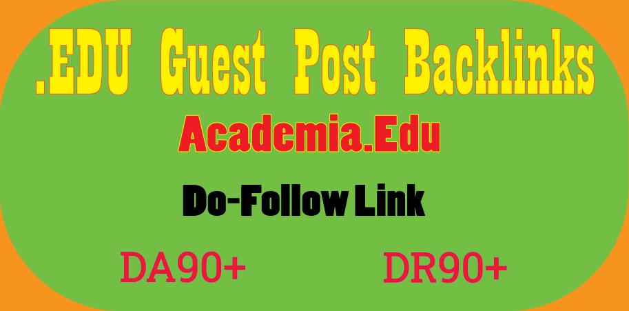 Write & Publish Academia. Edu Guest Post backlink