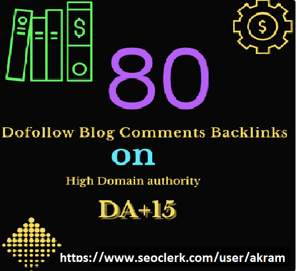 I will do 80 dofollow blog comments backlinks for SEO