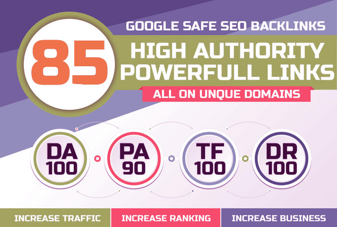 I will build 85 unique domain SEO backlinks on high tf and da sites.
