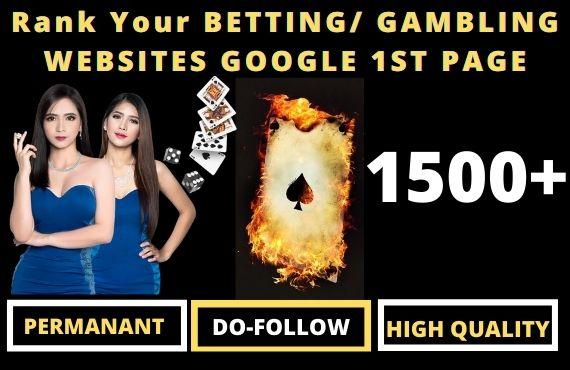 1500 Permanent Casino PBN Backlinks Web2.0 DA50 Do-follow Links Homepage for Unique website