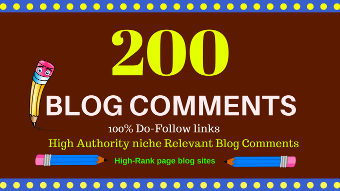 I will do 200 niche relevant blogcomments nofollow backlink