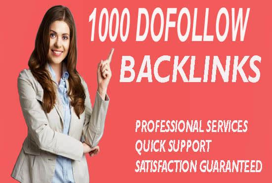 I will build 1000 dofollow blog comments SEO backlinks