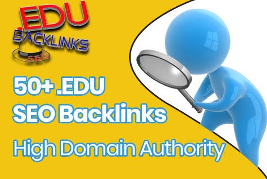 I will do 50 edu backlinks high da seo link building manually