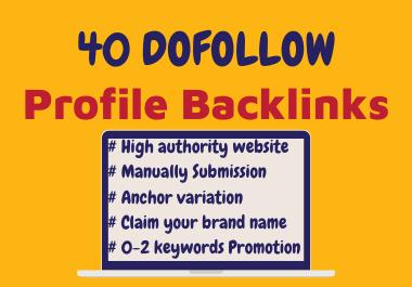 40 profile backlinks manually create-2020
