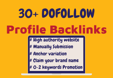 I will claim your brand name 30+ profile backlinks,  manually SERP ranking