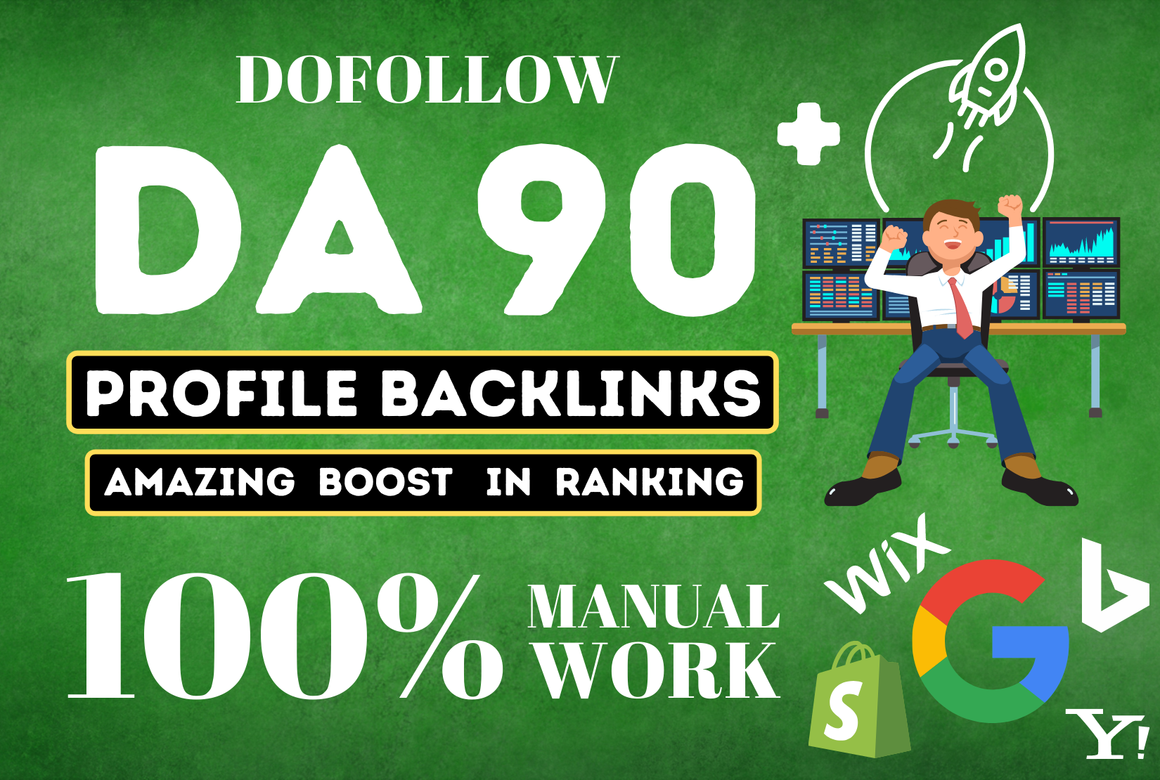 100+ High DA 90+ HQ Links manually to RANK your website by boosting your web authority