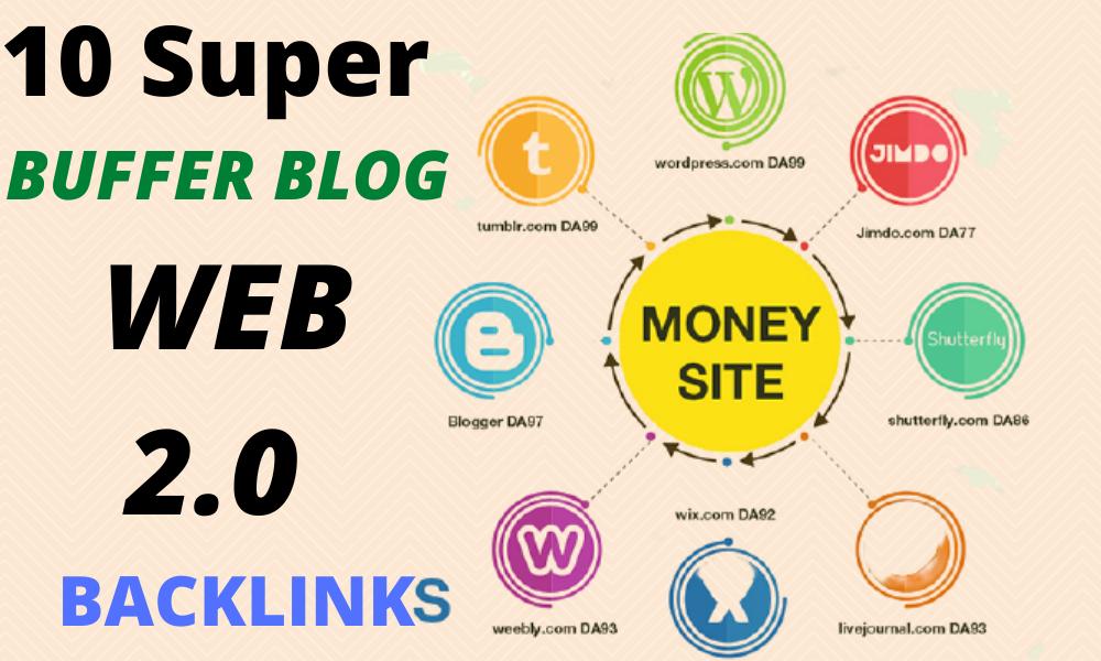 Manually Do 10 High Authority Do-follow Buffer Blog Web2.0 SEO backlinks