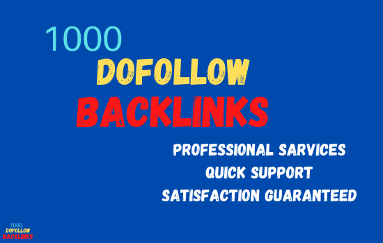 I will build 1000 dofollow SEO backlinks for the faster google
