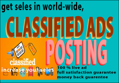 Get the world know you,  Classified ads posting
