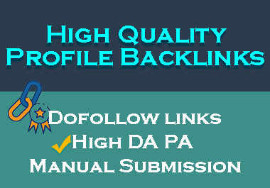 I'll Create 40 High Quality Profile Backlinks