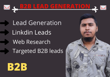 I'll do 200 b2b lead generation,  email marketing and data entry