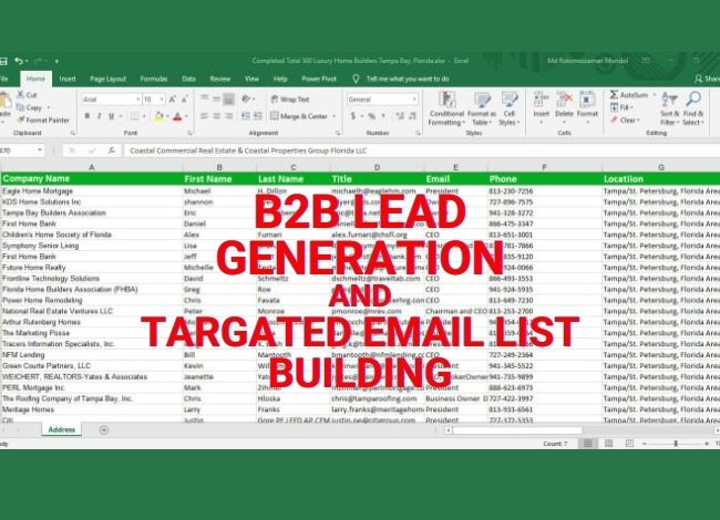I will collect 50 targeted lead for your business.