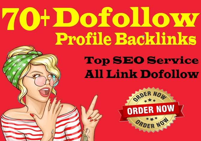 manually create 70 pr9 da 90 high authority dofollow profile backlinks
