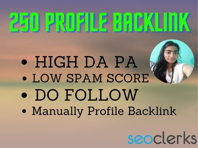 I will build 250 high authority profile backlinks