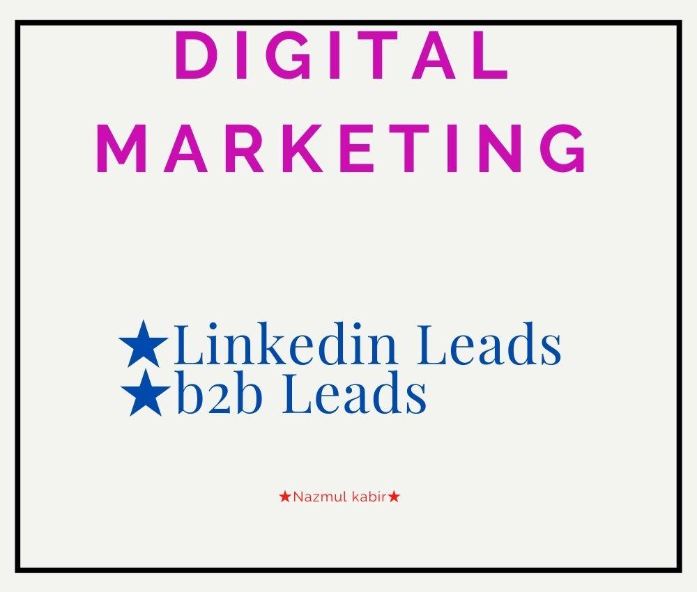 I Will Provide B2B Lead, LinkedIn Lead Generation