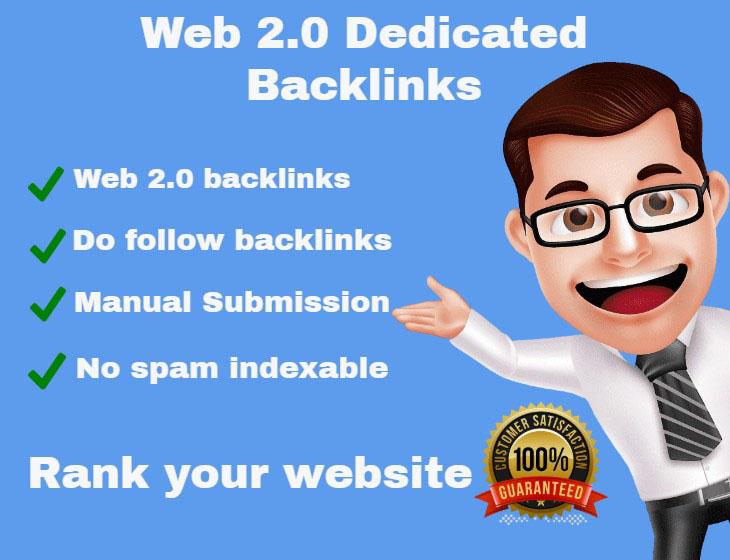 I will create 100 High DA PA web 2 0 blogs backlinks
