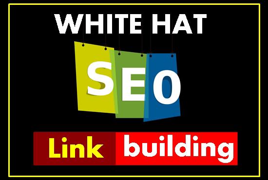 provide white hat SEO backlink,  manual link building service