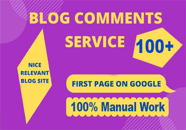 i will build Manually 100 HQ Blog comments Backlinks