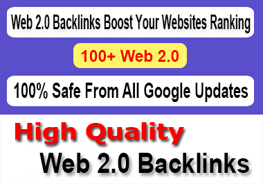 I will build 100 Web 2.0 Backlinks High DA PA Web 2.0 site Ranking on Google