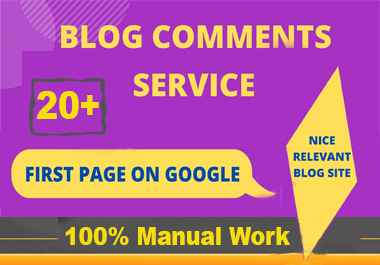 i will do Manually 20 HQ Blog comments Backlinks