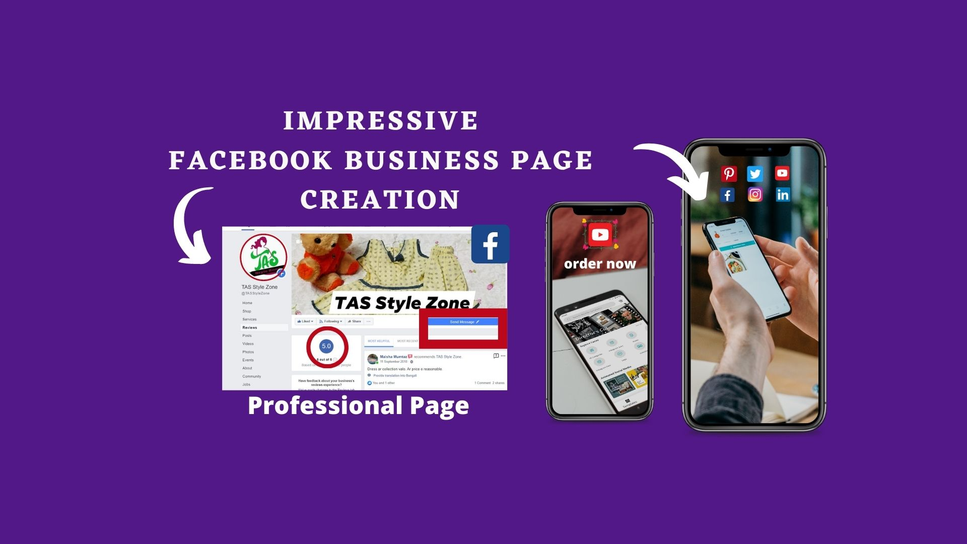 I will create impressive Facebook business page with professional set up