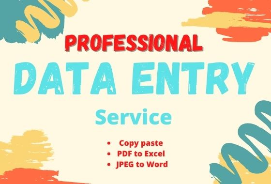 I will be your virtual assistant for data entry, copy paste