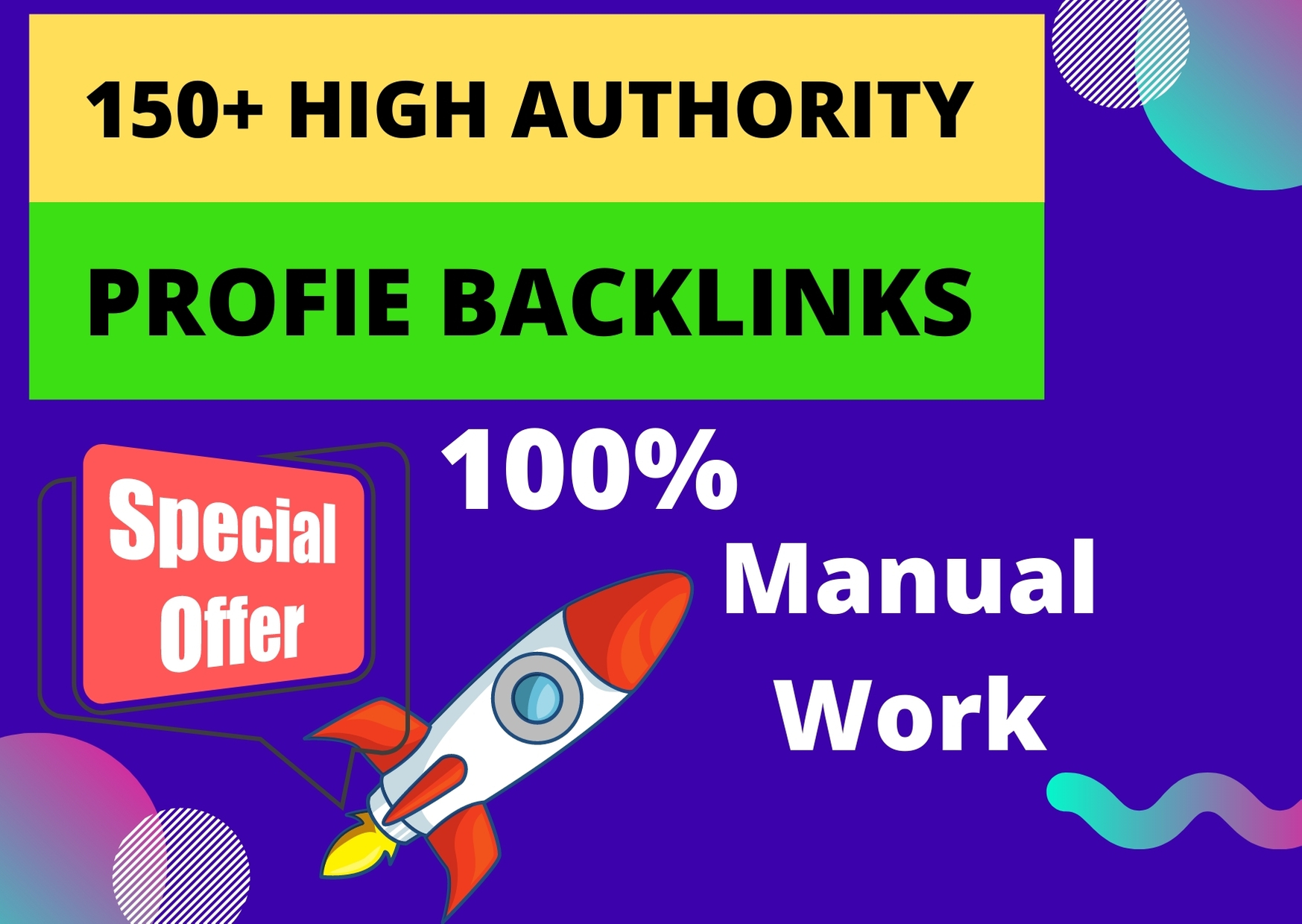 I will do 150+ high authority profile backlinks manually for SEO ranking