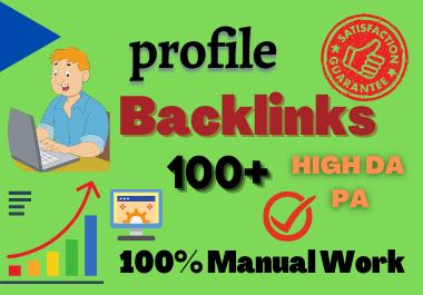 I will Manually Create 100+ dofollow Backlinks