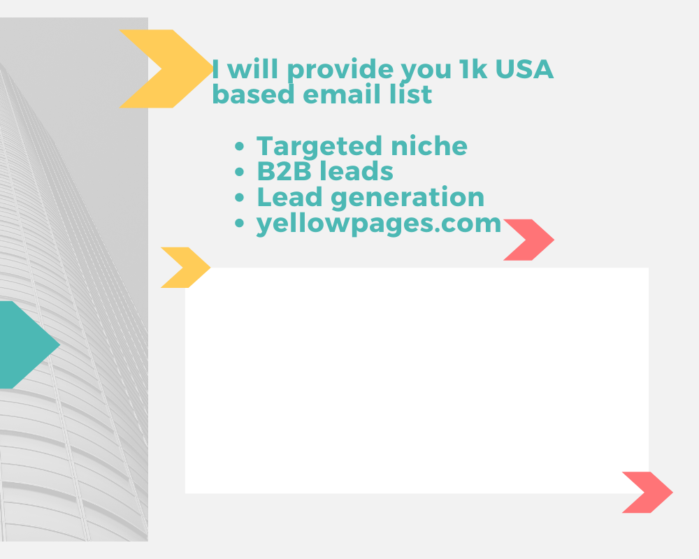 I will provide you 1k USA based email list