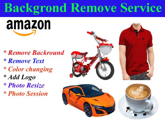 I will do amazon product photo background removal 20 image
