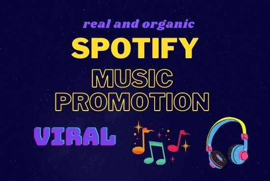 I will do organic music promotion for you