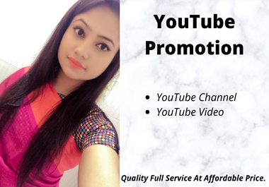 I Will Do Natural YouTube Promotion with Social Media