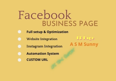 I will create a professional Facebook business page with a full setup.