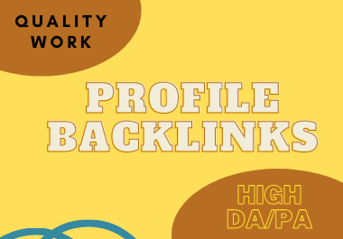 I will do 30 profile backlinks
