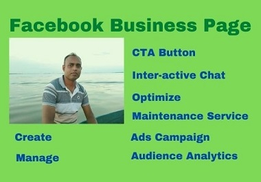 I will create your facebook business page with optimization.