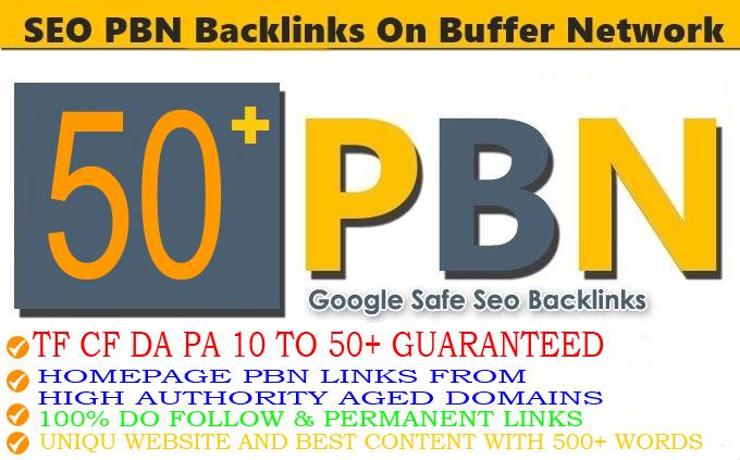 DA 35+ PA 35+ PR 5-9 Web2.0 50 Pbn Backlink in 100 dofollow in unique site