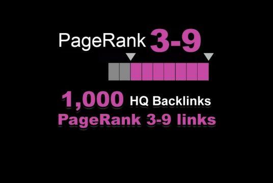 1000 High Quality PR 3-9 backlinks
