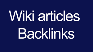 Get 330+ High Quality Wiki article contextual backlinks