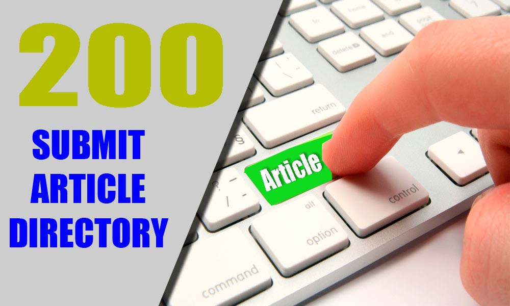 200 Article Directories Backlinks to improves Google Ranking