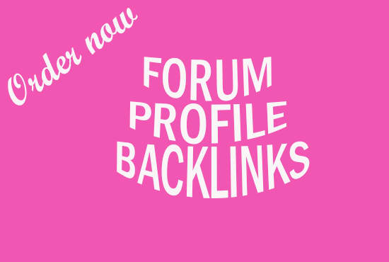 Create 500 High Quality Forum profiles backlinks for Your Site