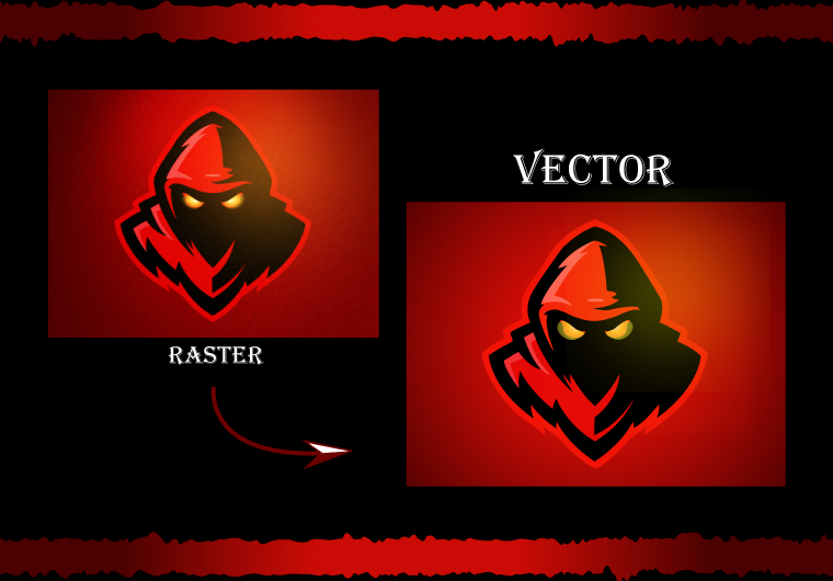 I will do vector tracing,  redraw,  convert to vector or vectorize logo manually