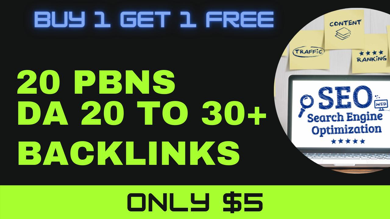 I will provide 20 pbn links do follow pbn backlinks