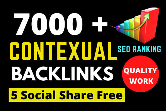 I will create 7000 contextual backlinks tiered for ultra SEO