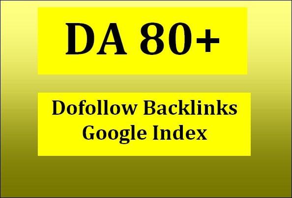 I will do high quality da 80 SEO guest and dofollow backlinks
