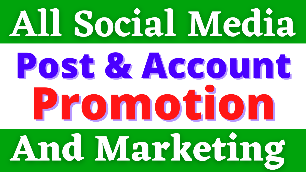 Social Media Post Promotion and Marketing