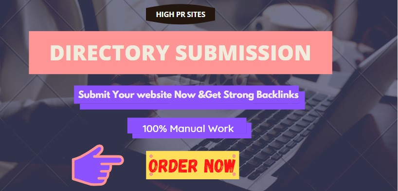 I will do high authority directory submission to 200 sites manually