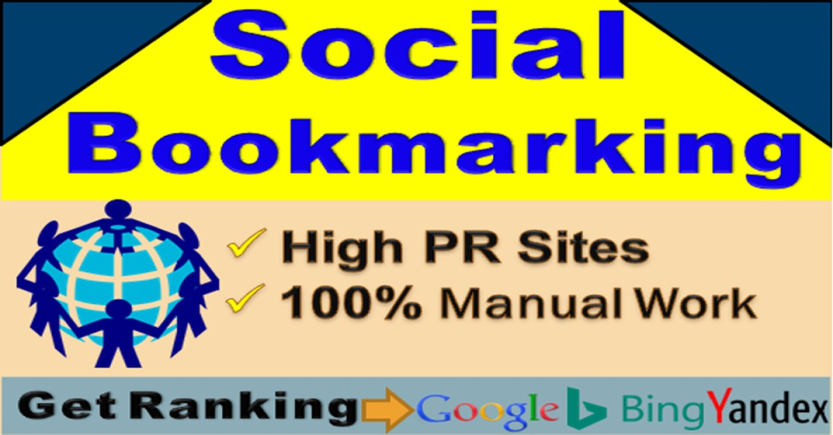 I will do manually 50 Social Bookmarking seo backlinks on high DA sites