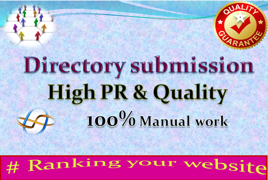 I will do 100 Manual high Authority directory submission service