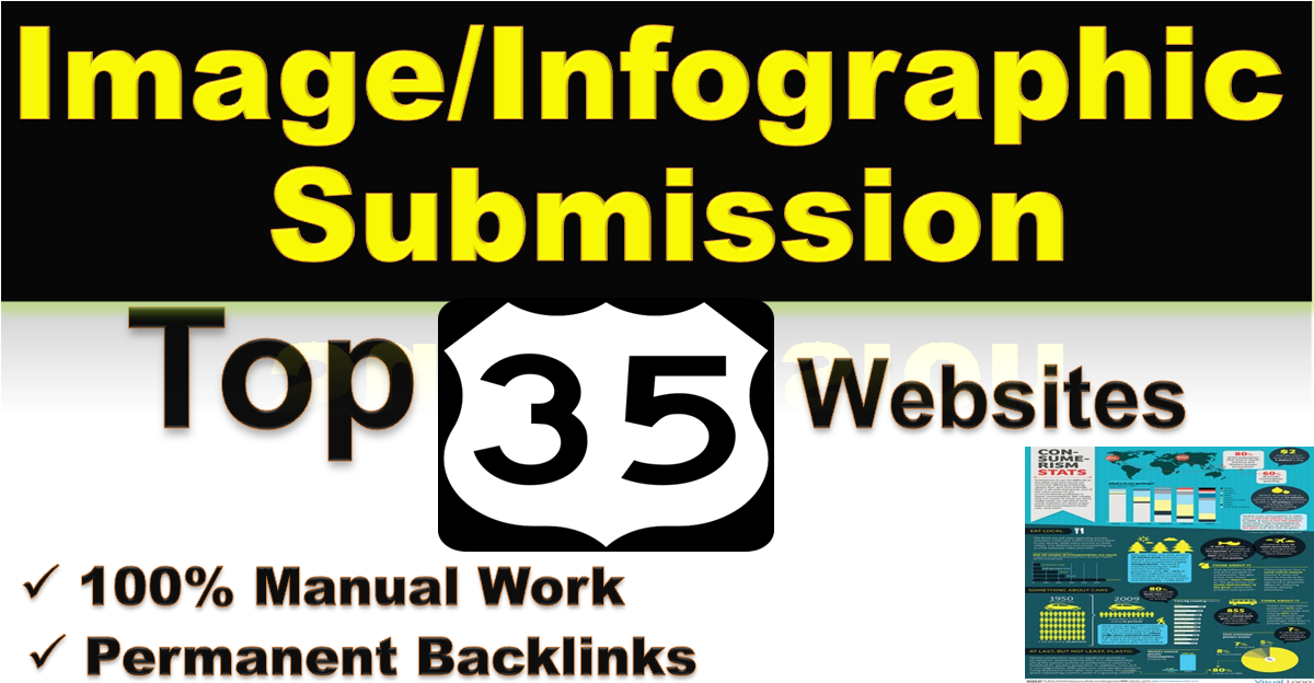 I will do Image or Infographic submission on top 35 High PR Images Sharing sites manually