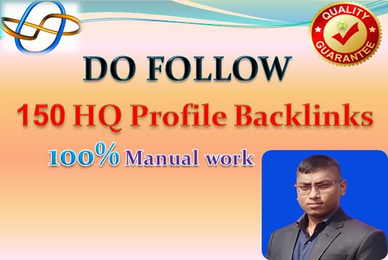 I will create 150 high DA PA do follow Profile backlinks